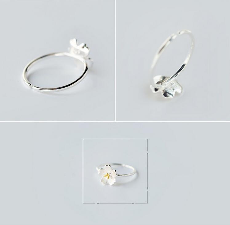 yiustar Új érkezési gyűrűk a nőknek Szép virág nyitott - Divatékszer - Fénykép 5