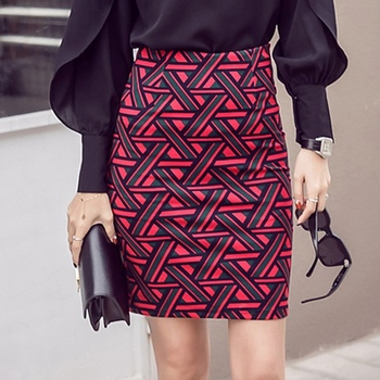 Womens Long Pencil Skirt Knee Length Fashion Summer OL Sexy Elegant Plaid Plus Size Formal Work Office Printed Skirts Female 4