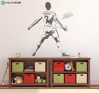 3d Poster Cristiano Ronaldo V2 Figure Wall Sticker Vinyl DIY Home Decor Football Star Decals Soccer