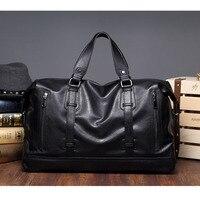 Etonweag marcas diseñador mano Bolsas alta calidad crossbody Messenger Bag hombres de cuero negro vintage Bolsas de viaje bolsa de gran capacidad