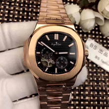 Luxury Brand New Automatic Mechanical Men Watch Sapphire Rose Gold Tourbillions Watches Silver Black Blue Limited AAA+ Military
