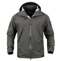 Outdoor Waterproof Hard Shell Military Tactical Jacket Men Camouflage Hooded Hardshell Windbreaker Rain Coat Hunting Jacket