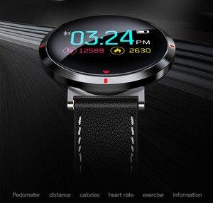 Image 3 - معدل ضربات القلب الرياضة ساعة ذكية أندرويد هواتف الايزو المحمولة بلوتوث ساعة ذكية الرجال الرقمية ضغط الدم ساعة ذكية es E28