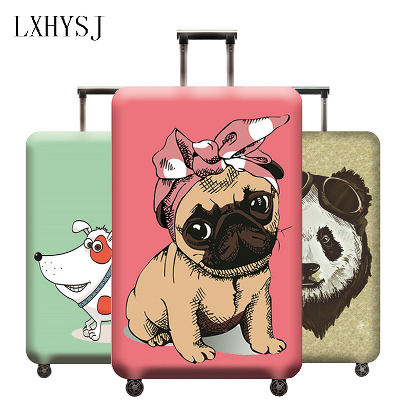 Elasticity Animal Pattern Luggage Cover Suitcase Cover Used For 18-32 Inch Luggage Protective Covers Travel Accessories