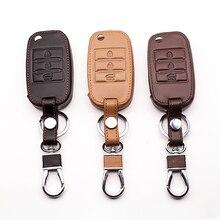 Funda de cuero para teclado de coche, para Kia Rio QL Sportage Ceed Cerato Sorento K2 K3 K4 K5