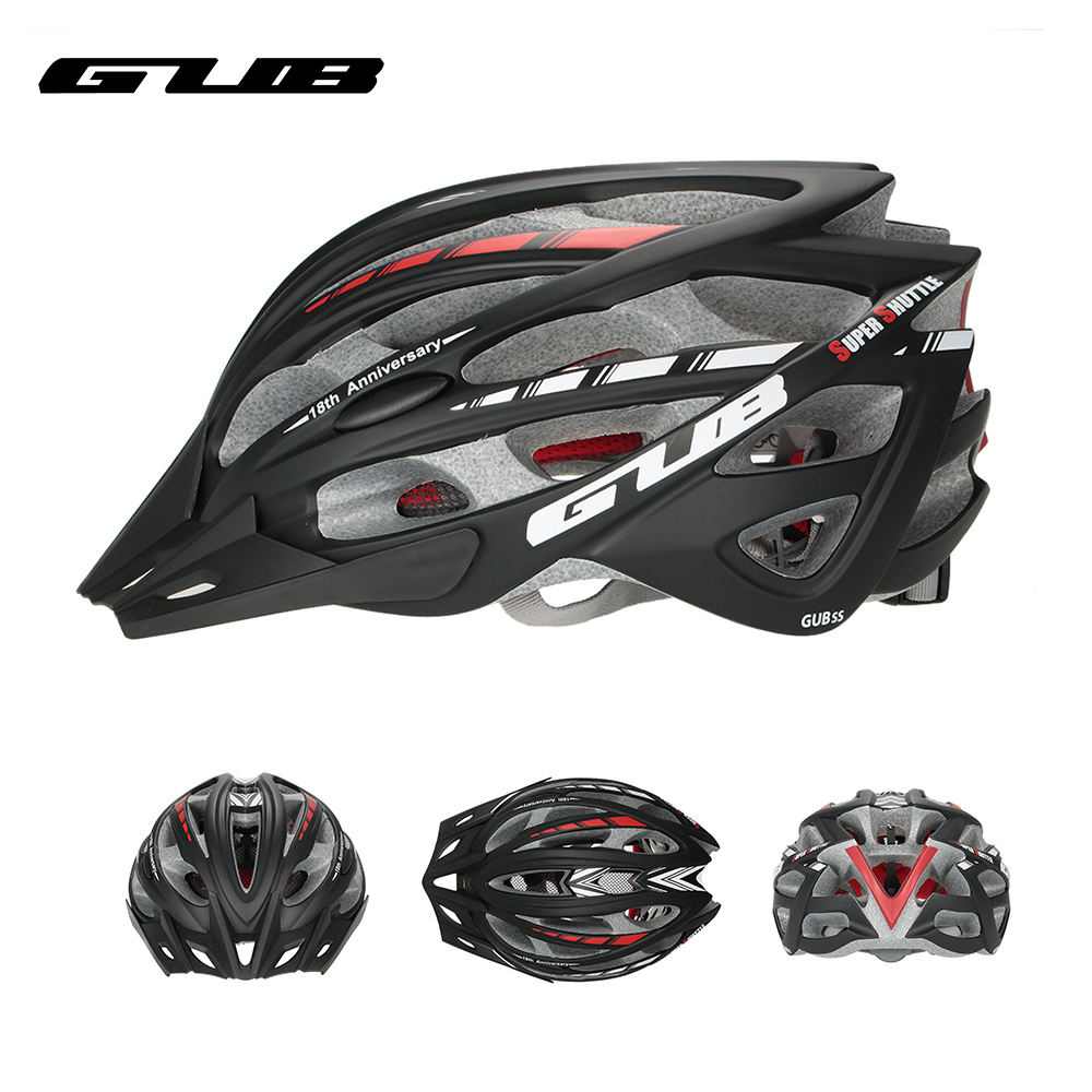 GUB Integrally-molded Bicycle Cycling Helmet Visor Men Women MTB Mountain Road Bike Helmet 57-61cm 30 Vents Bike Accessories universal bike bicycle motorcycle helmet mount accessories