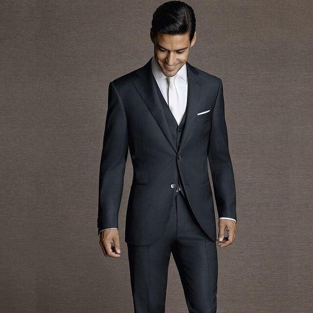 533845771 En venta Por encargo Negro hombres traje de boda Vintage muesca ...