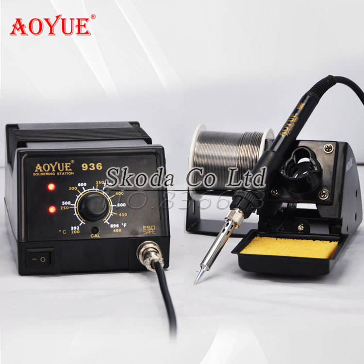 ESD safe High quality 220V AOYUE 936 Soldering Station+soldering handle+heating element +soldering iron frame hakko fx 888d safe soldering station soldering iron esd safe 220v