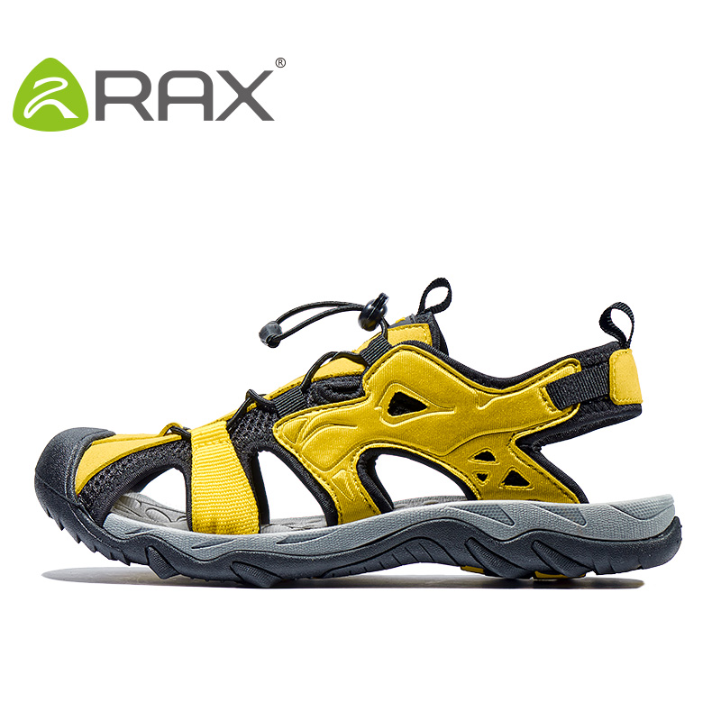 Men Outdoor Beach Sandals Closed Toe Anti-slip Summer Sports Shoes Unisex Lightweight Leisure Cut Out Slippers AA12324