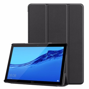 Folio cover case For Huawei MediaPad T5 10 AGS2-W09/L09/L03/W19 10.1 Tablet stand cover for huawei mediapad T5 10 case+gift pen(China)