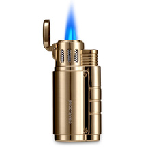 Cigar lighter mens sound flip clamshell windproof creative personality straight into the LL-3047-1
