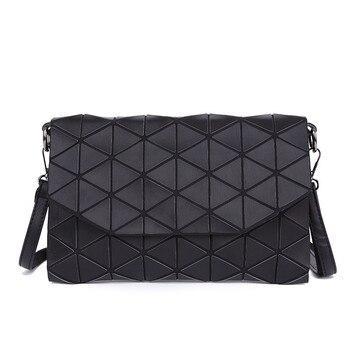 2018 New Matte Designer Women Evening Bags Shoulder Bag Girls Flap Handbag Fashion Geometric Plaid Casual Clutch Messenger Bags