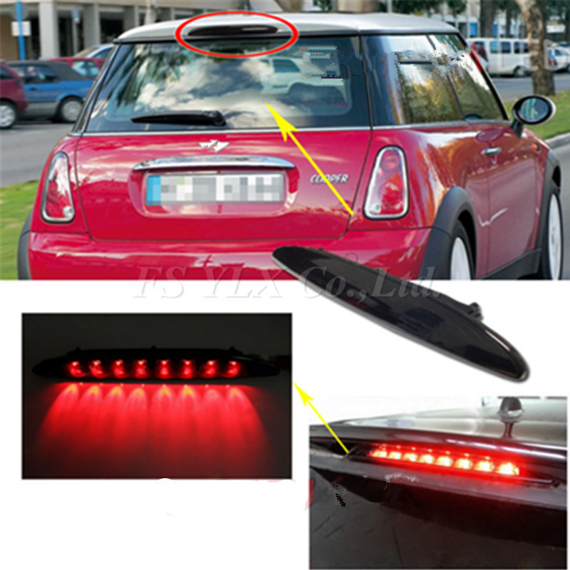 Fsylx Third Brake Light For Bmw Mini R53 Smoked Lens Brilliant Red 8led High Mount 3rd Cooper R50 In Signal Lamp From