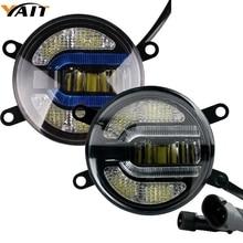 Yait 2 светодио дный x 3,5 дюймов новые светодиодные противотуманные лампа автомобиля габаритные огни U форма DRL для Honda Pilot Subaru Legacy Suzuki