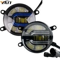 Yait 2x 3.5 inch Newest LED Fog Light Bulb Lamp Car Daytime Running Lights U Shape DRL For Honda Pilot Subaru Legacy Suzuki