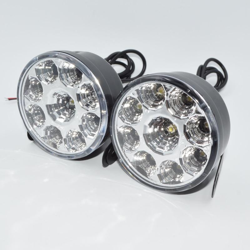 2x Super Bright COB White LED Lights DRL Fog Driving Lamp Daylight Fashion Style