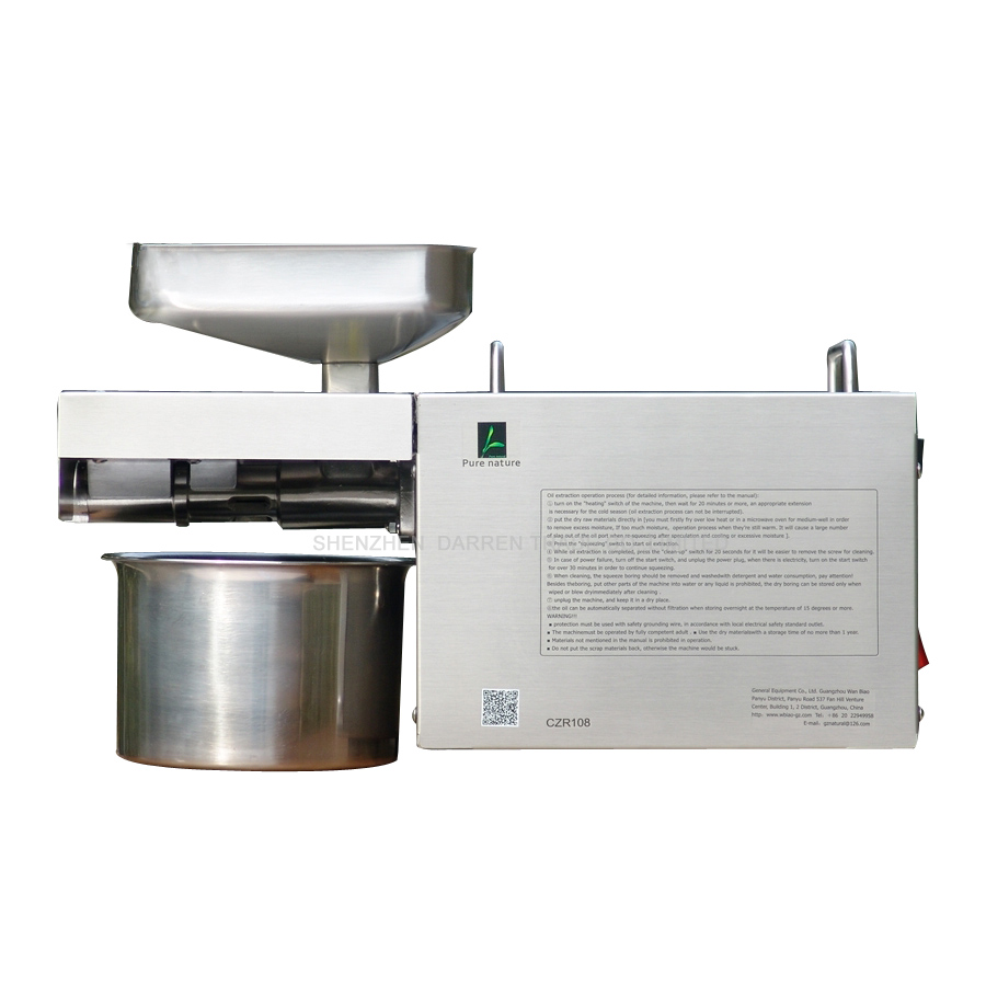 1pc Small Oil Press Machine Automatic Stainless Steel Oil