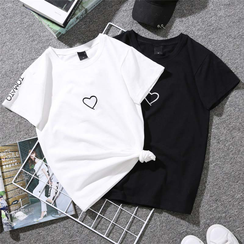 Casual Tops Couples T-Shirt Print T-Shirt 19 Summer