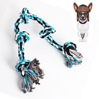 1pcs Big Dog Bite Resistant Molar Cotton Rope Toy Pet Dog Cotton Chew Knot Toy Durable Woven Bone Rope Pet Supplies