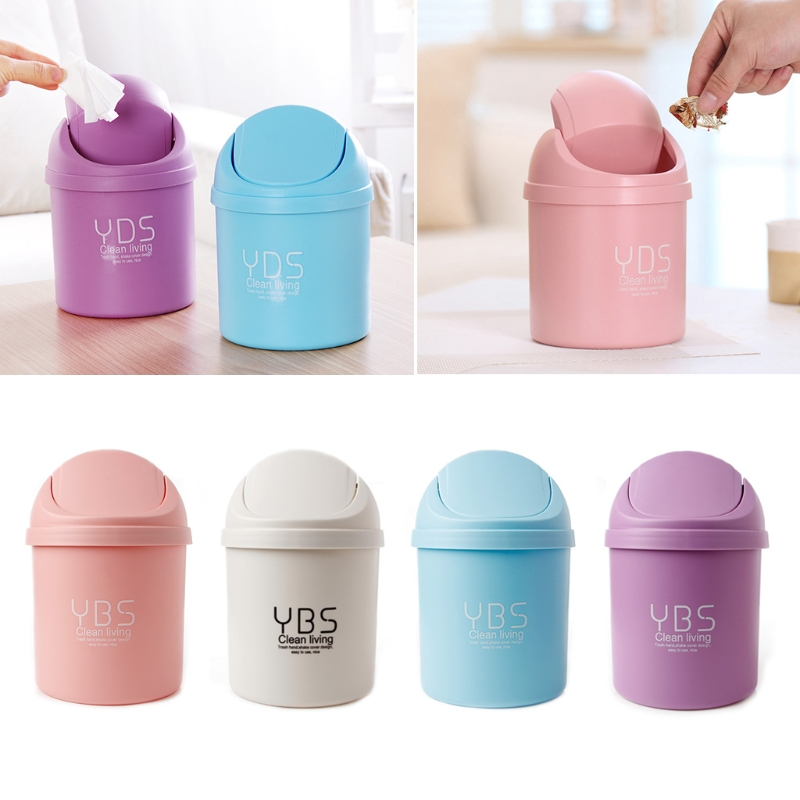 Cute Mini Small Waste Bin Desktop Garbage Basket Table Home Office Trash Can-P101 ...
