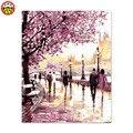 Картина по номерам художественная краска по номерам Париж Весна прогулки по улицам  дожди свой собственный цвет акриловый цвет уличная про...