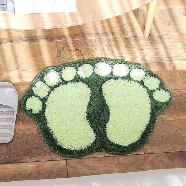 Stampa del piede Bagno Zerbino s antiscivolo Tappeto Bagno Zerbino Wc Bagno Tapp