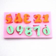 Арабские цифры 1-9 в форме 3D силиконовые торт помадки плесень украшения торта Плесень FM108