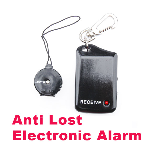 New Anti Lost Electronic Personal Reminder Alarm Pet  LCC77 personal anti lost alarm device for kid pet purse bag cell phone blue black 1 cr2032 2 cr2032