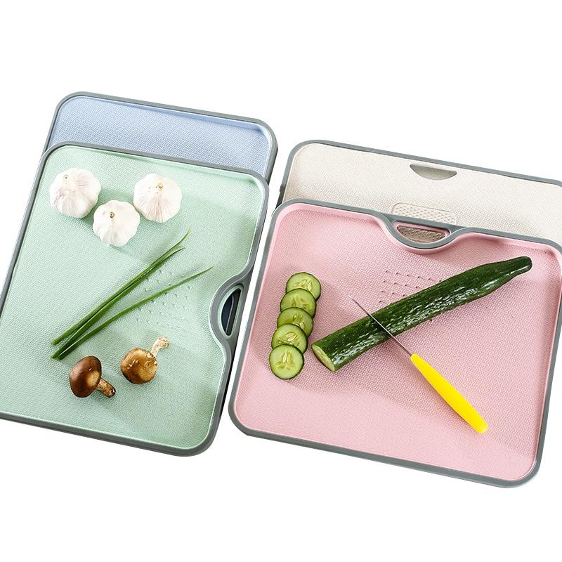 Eco Weizen Stroh Schneiden Bord Rechteck Gourmet Schneidebrett Mit Schleifen Knoblauch Werkzeug Kochen Küche Gadgets Zubehör