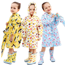 Милое маленькое водонепроницаемое нейлоновое дождевик с принтом животных для мальчиков и девочек, ветрозащитное пончо для детского сада, студенческого детского дождевика