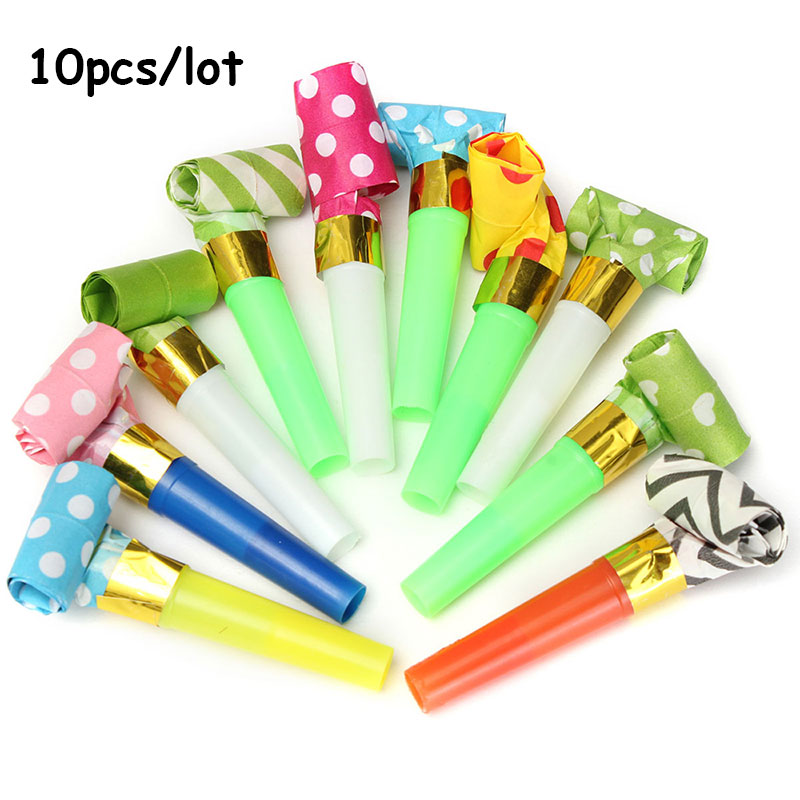 10pcs small colorful funny whistles kids childrens birthday party
