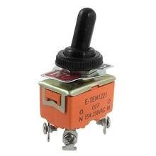 15A/250VAC вкл/выкл 2 Way 4 Винтовые Клеммы DPST Тумблер ж Водонепроницаемый Загрузки