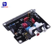 Módulo de placa de som áudio de alta fidelidade dac pcm5122 i2s interface 384 khz led indicador para raspberry pi /2/3/b + módulo arduino