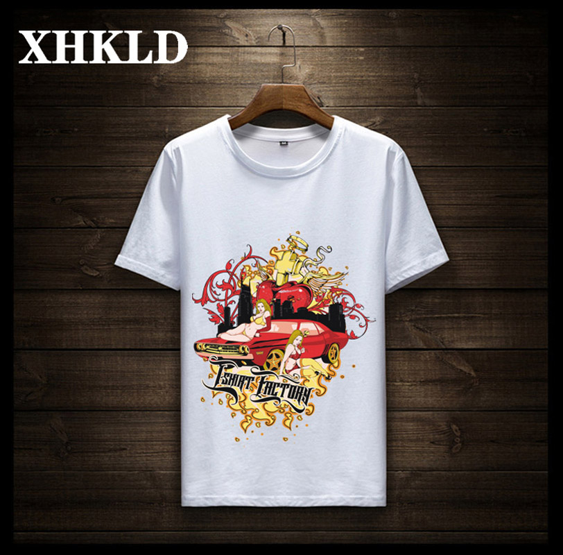 XHKLD Summer season Males T-shirts Printing Slim Match Brief Sleeve T Shirt Mens New O-neck Tops Humorous TShirts Model Clothes Plus Measurement T-Shirts, Low-cost T-Shirts, XHKLD Summer season Males...