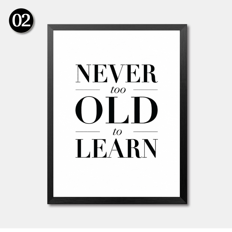 Nordic minimalist black white life quotes art canvas prints posters wall for living room decor modern home decor no frame lp0036 in painting calligraphy