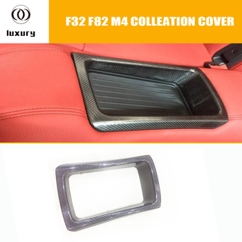 F32 F82 M4 Carbon Fiber Rear Seat Storage Basket Cover Trim for BMW F32 4 Series Coupe F82 M4 Coupe ( can't fit F33 F36 F83 ) image