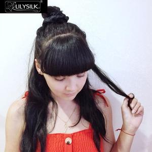 Image 4 - LilySilk 100% Pure Silk Scrunchiesชุด 5 แพ็คCharmeuseหัวผมBandอุปกรณ์เสริมCareหรูหราสีสุ่ม