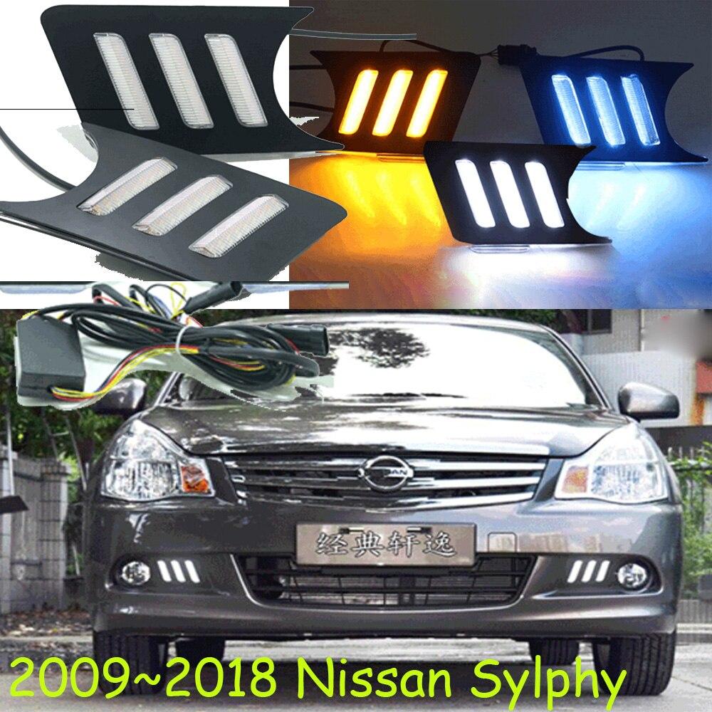 Sylphy day light,2009~2018!Free ship!LED,bluebird fog light;Sylphy;bluebird daytime light;Micra,Titan,bluebird headlight totem bluebird