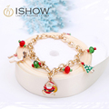 I Show men bracelets Gold chain charm bracelet pulseras mujer bracelet jewelry Santa Claus bracelets Christmas gift Accessories