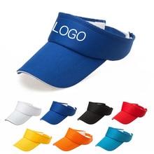 Sunshade Hat Visor-Caps Logo Custom-Print Cotton Women Summer Outdoor Unisex Text Advertising