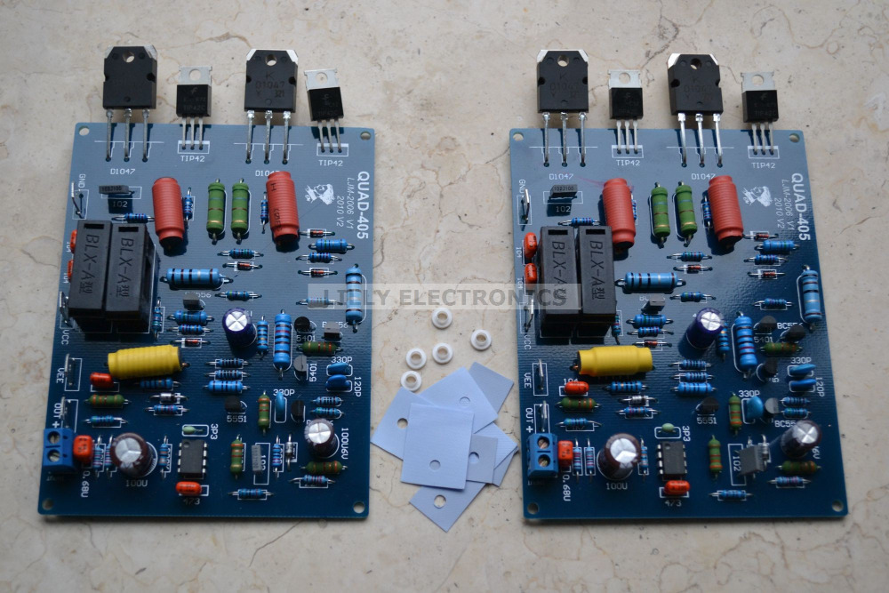 2pcs/lot Assembled QUAD405 mono Audio Power Amplifier Board DC +/- 40V to +/- 50V (3A)  цены