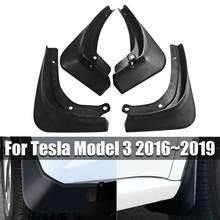 4 шт./компл. автомобиля Брызговики спереди и сзади брызговик щитки Брызговики для Tesla модель 3