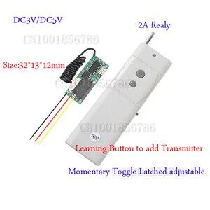 Transmissor DC3-5V-300 m 3000/315 mhz da distância distante do receptor pequeno do volume 433 do sistema de interruptor do controle remoto do rf mini