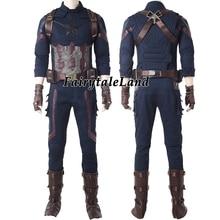 Film Infinity süper kahraman Steve Cosplay kıyafet karnaval cadılar bayramı kostümleri askıları ile gömlek ve pantolon Custom Made