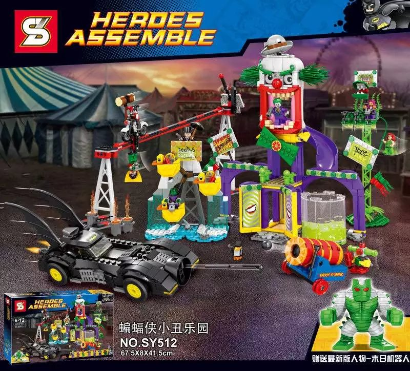 SY512 Dc Hero Batman Clown Evil Paradise Evil Amusement Park Minifigures Building font b Block b