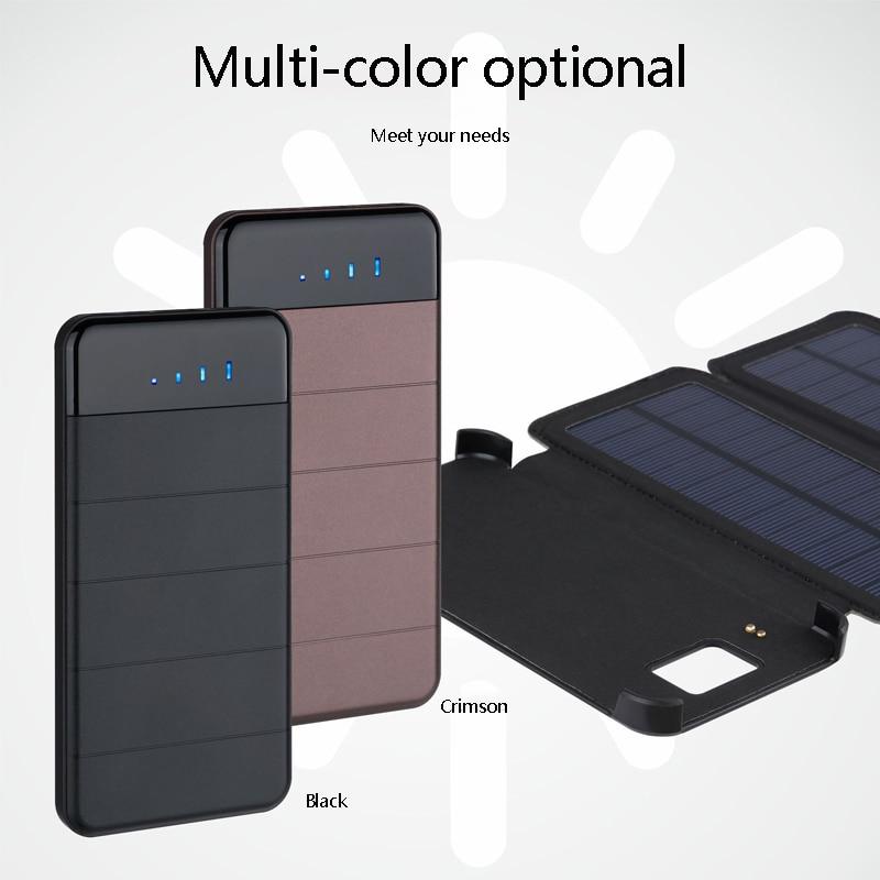 Chegada nova Solar Banco Do Poder 20000mAh Pacote de Backup de Bateria Externa Carregador Solar para o Telefone Tablets À Prova D' Água para Xiaomi