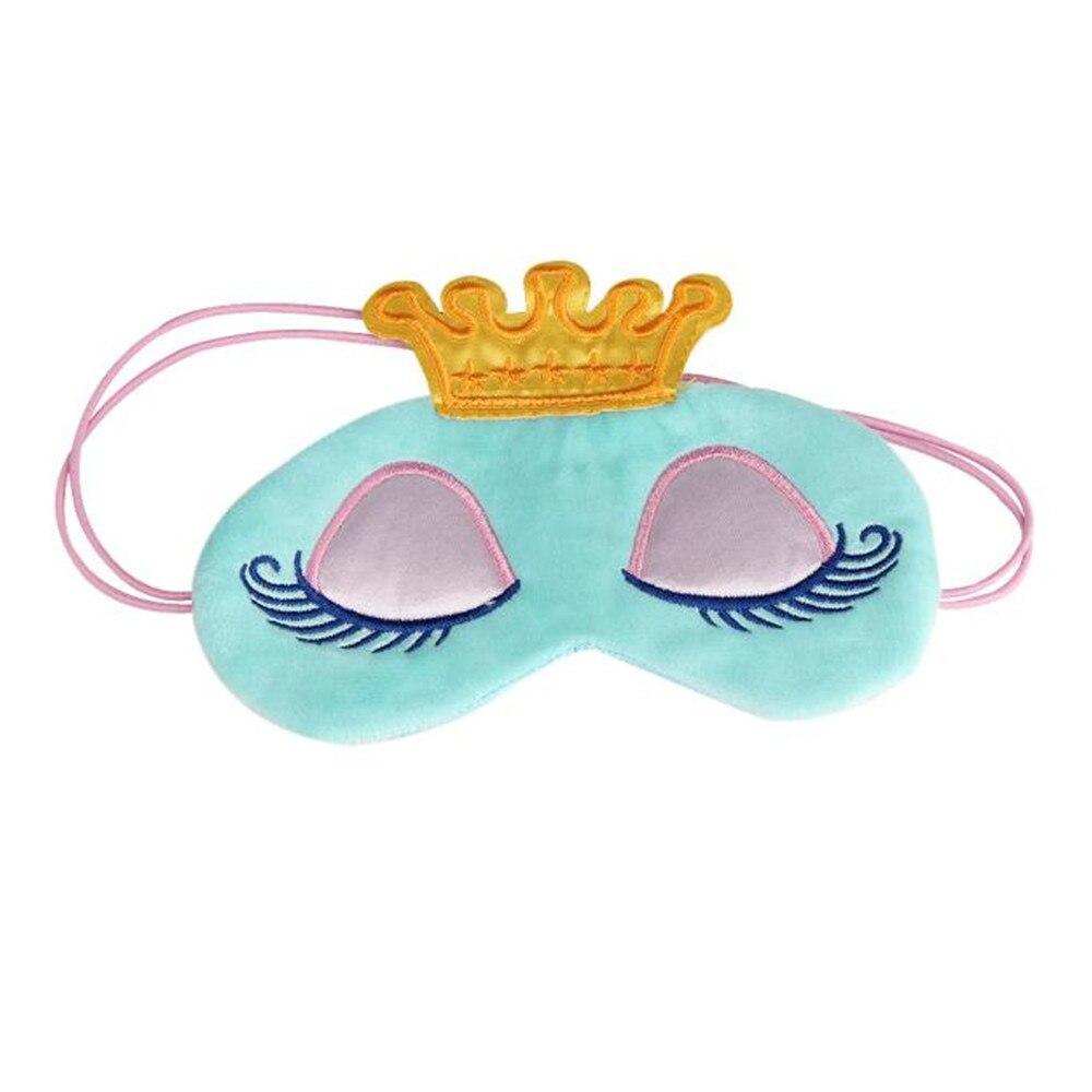 Masken Crown Blinder Winker Maske Padded Eyeshade Rest Entspannen Für Schlaf Auge Covercute Silikonauto-schlüsselabdeckung Reise Schlafen Augenbinde Schatten Auge Maske Bekleidung Zubehör