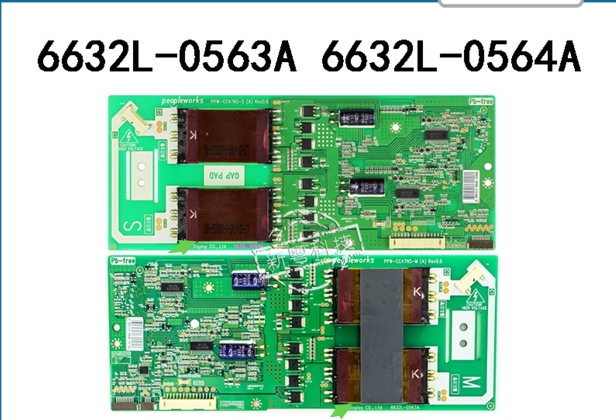 6632L-0563A 6632L-0564A HIGH VOLTAGE logic board for connect with 47ZV650C T-CON connect board 4750fr ta lc470wun sab1 6632l 0486b 6632l 0487b used disassemble