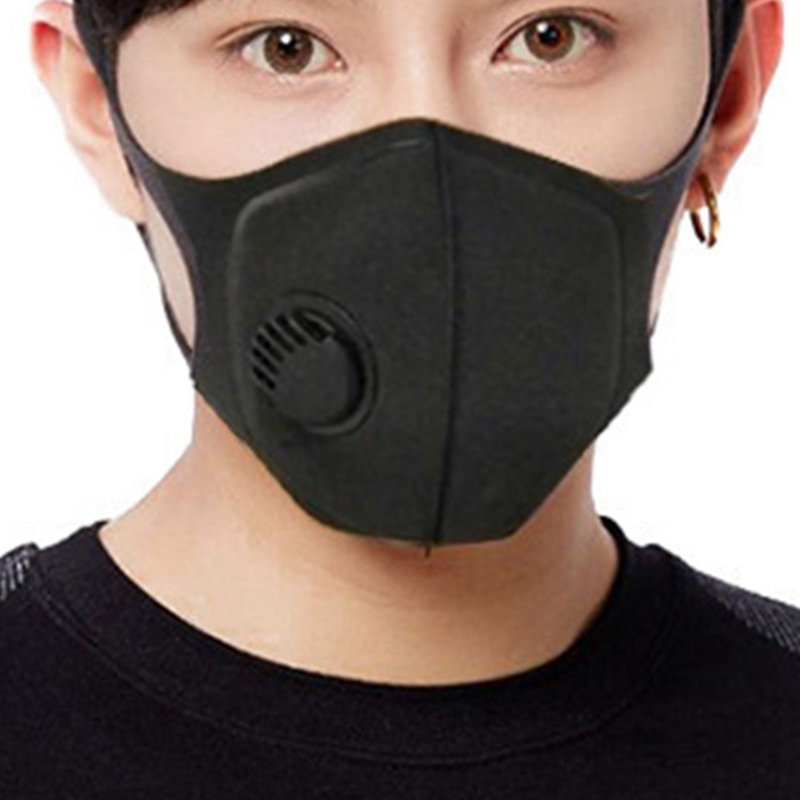 Respiratory Dust Mask Upgraded Version Men & Women Anti-fog Haze Dust Pm2.5 Pollen 3D Cropped Breathable Valve Mask