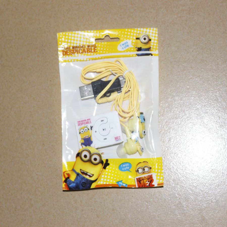 1 pcs lot New Style High Quality Mini Despicable Me Cartoon Anime Shaped Card Reader MP3
